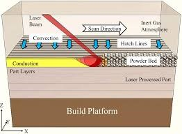 Laser and metal powder Interaction