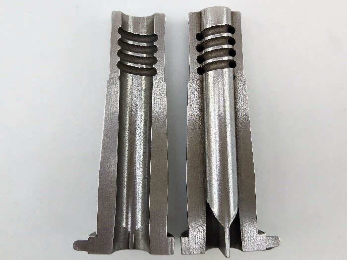 Section of a Tooling Insert for Injection Moulding Die